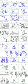 Story Board Process for Airship Altercation by RozlynnWaltz