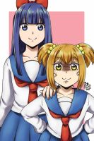 Popuko and Pipimi by MaroonAbyss