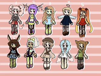 Varied Batch [CLOSED] by hello-planet-chan