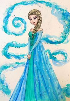 Queen Elsa by mliddam
