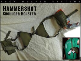 NERF Hammershot Shoulder Holster by MarcWF