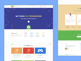 Landing page for Kidscodr by jozef89