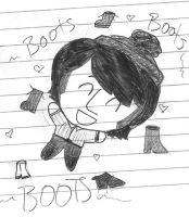 Chibi Mike And His Boots by girlwitharubbersoul