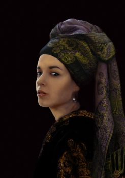 Me with a pearl earring by Liko