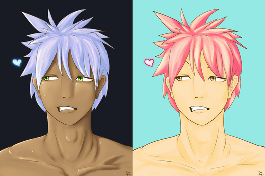 1 Male Bust - Axel (Both versions) by Xarra-Lotus