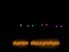 Fnaf Halloween by TropicaIDeer