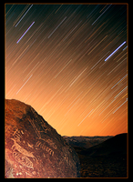 Paiute Petroglyph Star Trails by narmansk8