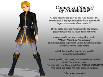 [Old Model DL Series] Camus v1 (Young) [DL] by Nintendraw