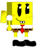 [FAN-ART}: Mini SpongeBob by Spongecat1