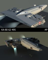 Ka-80 Spaceship construction A by Artificialproduction