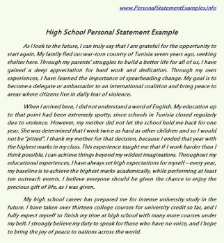 how to finish a personal statement
