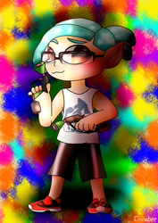 You're a kid you're a squid x2 by PainterPeasant