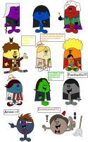 All 11 Doctors Mr. Men style by Percyfan94