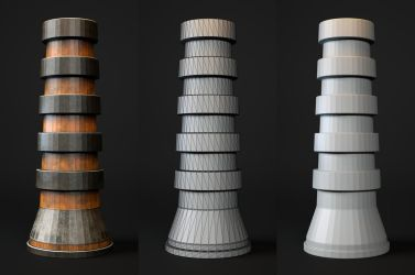 Laticis FREE Object - SciFi Pillar by Laticis