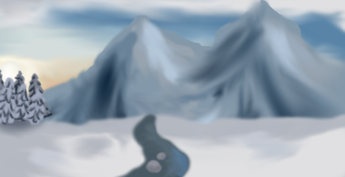 Mountains background by Liljatupsu
