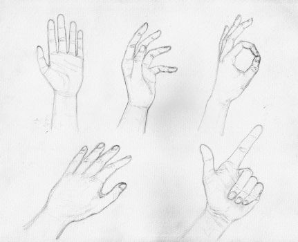 Hands Sketch by March90