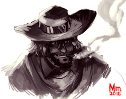 Overwatch: Jesse McCree by Monkanponk