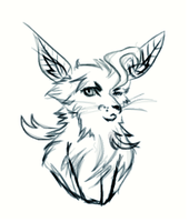 A Really Bad Sketch Of Leafeon...? by somefreshmaymays