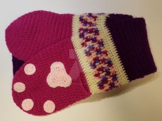 Pink Berry Paw Scarf by TwoTailCreations