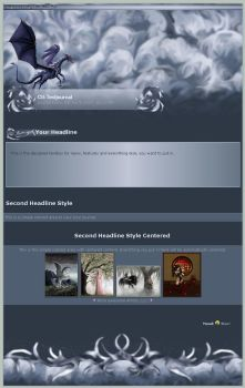Blue Storm Dragon CSS Template by CyprithTheCat