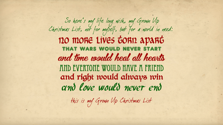 Grown Up Christmas List Wallpaper by VampireLouislove