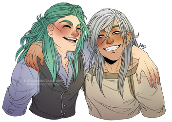 Commission - Johannes and Ulysses by Eeren by Miss-Pannacotta