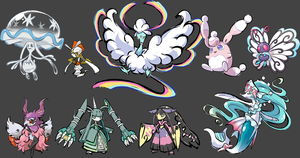 some fake mega and fusions