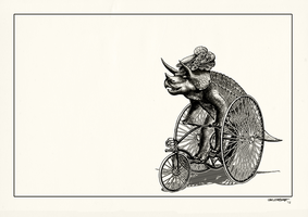 Trike Ceratops. white background by Smaggers