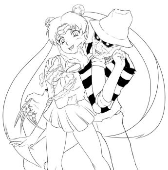 Sailor moon x Freddy Kruger (Inked) by BNNM040