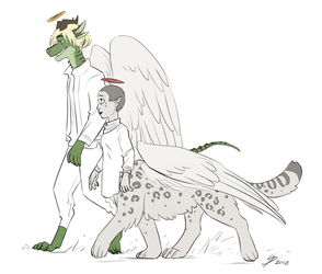 Balthazar and Opal doodle by TheScatterbrain