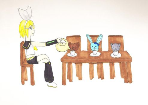 Rin's Tea Party by superiorcatgirl