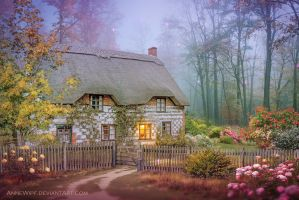The Cottage in the Woods by annewipf