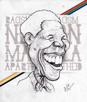 Nelson Mandela - Caricature by libran005