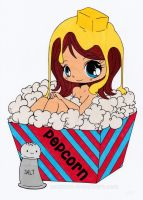 Popcorn Girl Colored by Maiko-Girl