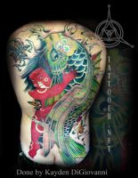 Kintaro Koi Backpiece tattoo by kayden7