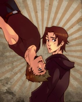 upside down supernatural by XMenouX