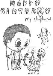 Happy Birthday My Shepherd by Nestall