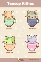 Teacup Kitties by mAi2x-chan