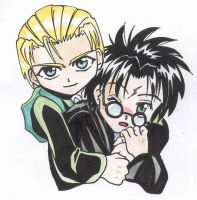 Chibi Harry x Draco. by Anouk-Sparrow