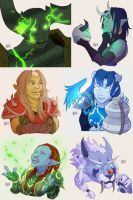 WoW Special Commissions Pack 02 by AzizlaSwiftwind