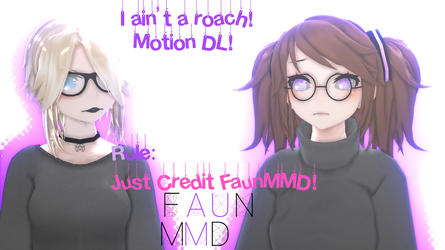 [MMD] RoaCH Motion DL! [Motion by FaunMMD] by Faun-MMD