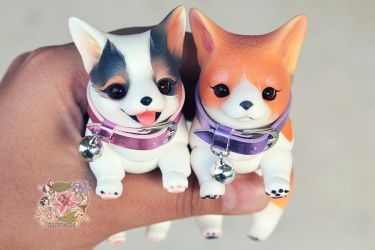Zelda and Kairi in Resin Form by tinaheart