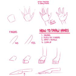 How To Draw Hands by Lily-Draws