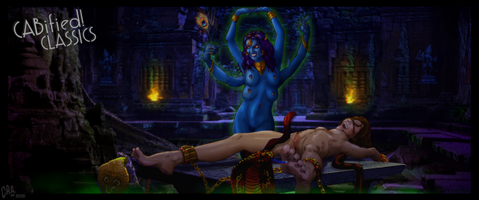 Lara Croft ~Tickle Torment in the Temple of Kali by CeeAyBee