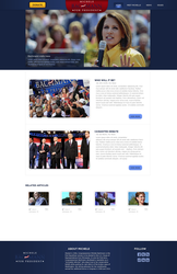 Presidential Campaign site by KustomzGraphics