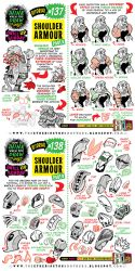 How to draw SHOULDER ARMOUR tutorial by STUDIOBLINKTWICE