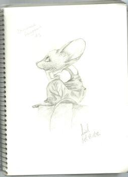 a relaxed mouse in trousers by Arielsparky