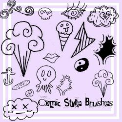 Comic Style Brushes by Red--Roses