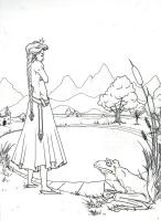 Enchanted Forest lineart1 by Alecueous