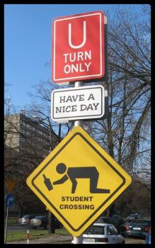 Student crossing by Y3T1